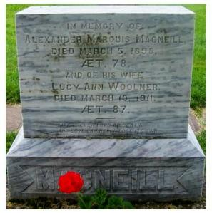 Alexander Marquis MacNeill, Lucy Ann Woolner