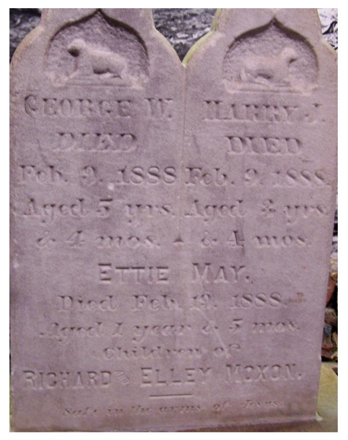 Moxon Children Headstone