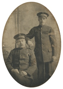 My grandfather Hubert Appleby (standing) during the First World War.