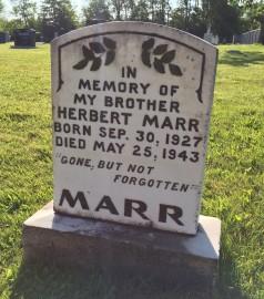 Marr Headstone
